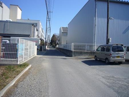 前面道路 東側 幅員4.18m